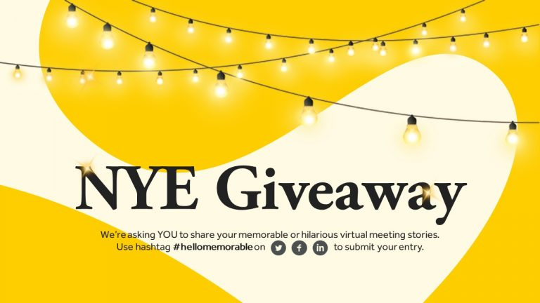NYE Giveaway: Share your memorable virtual meetings gone hilariously wrong and win one year free access to Myna