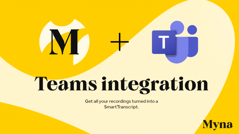 Get more value from your meetings with new features for Myna – Integration with Teams, OneDrive and Zapier!